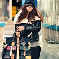 时尚街拍:韩国冬季性感混搭