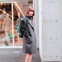 日本街拍长款大衣搭配不寻常