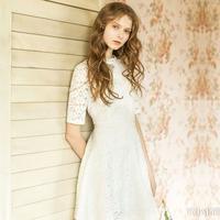 蕾丝边裙子穿出公主范儿