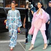 蕾哈娜最时髦的街拍大汇总