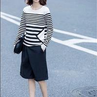 条纹针织衫女式穿搭清爽感觉延续到秋天