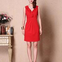 【图】红色无袖连衣裙搭配什么好看呢四个美艳时尚的搭配技巧