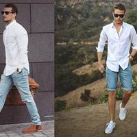 【图】男装搭配必学技巧白衬衫不止能搭破洞牛仔裤