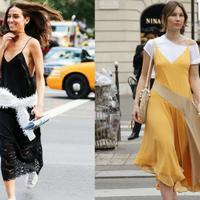 这条美裙清爽又撩人 街拍女孩们都喜欢穿着它出街