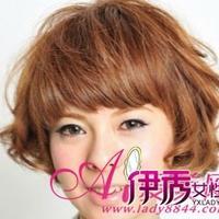 短发最新潮流不对称烫发修颜显个性
