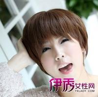 大脸短发发型蘑菇头修颜减龄