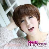 圆脸适合短发蘑菇头造型修颜减龄