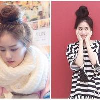 图解韩国丸子头发型教程