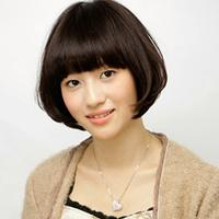 【图】过眉齐刘海短发发型展示完美减龄又不失可爱风