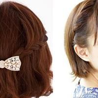 【图】4步打造短发编发让你甜美又可爱