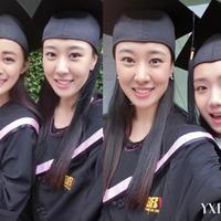 高颜值北影毕业照学生瘦脸法自拍更抢镜