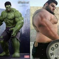 男子真实版绿巨人肱二头肌吓坏网友