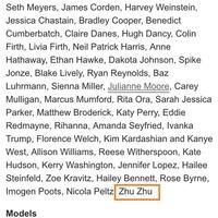 美国MetBall嘉宾名单出炉朱珠意外上榜