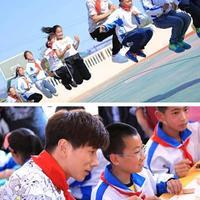 【图】张亮作为加速队员的代表赶赴青岛与小学生一起制作大饽饽