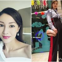 【图】港姐李嘉欣美艳依旧发文秀香肩皮肤白皙似二八少女