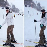 【图】李嘉欣滑雪道早安被称冰雪女王对甘比刘銮雄结婚十分祝福