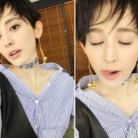 【图】古力娜扎剪短发啦!网友:又帅又美