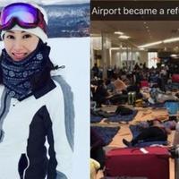 【图】李嘉欣一家三口北海道旅行被困疲惫返港战果满满