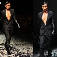 【图】胡兵被评全球50大最佳著�b男士之一时装走秀压轴出场