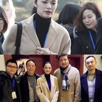 【图】姚晨担任上海电影学院艺考评委情人节儿子献花老公拍照
