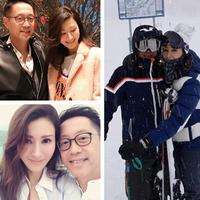 【图】李嘉欣晒与丈夫滑雪恩爱照调侃自己没有腰身